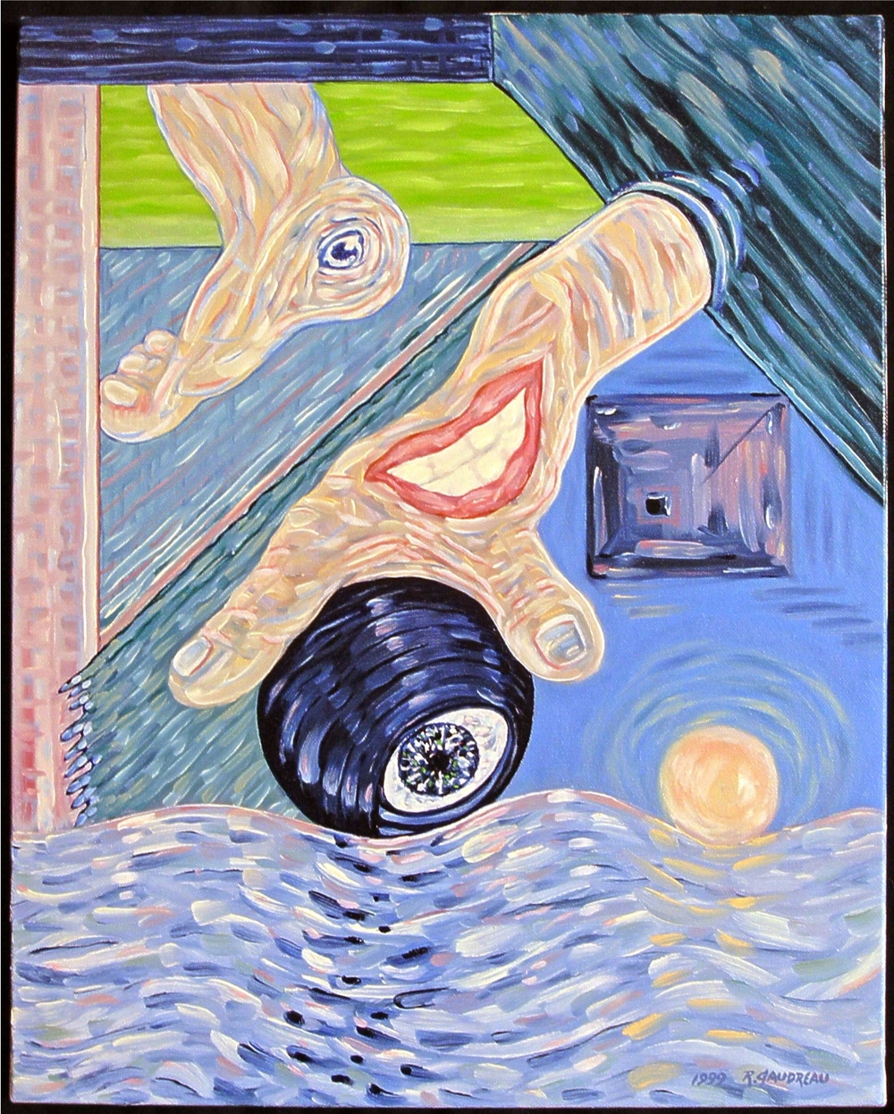 Split Personality    1999 oil on canvas 20 x 16 inches