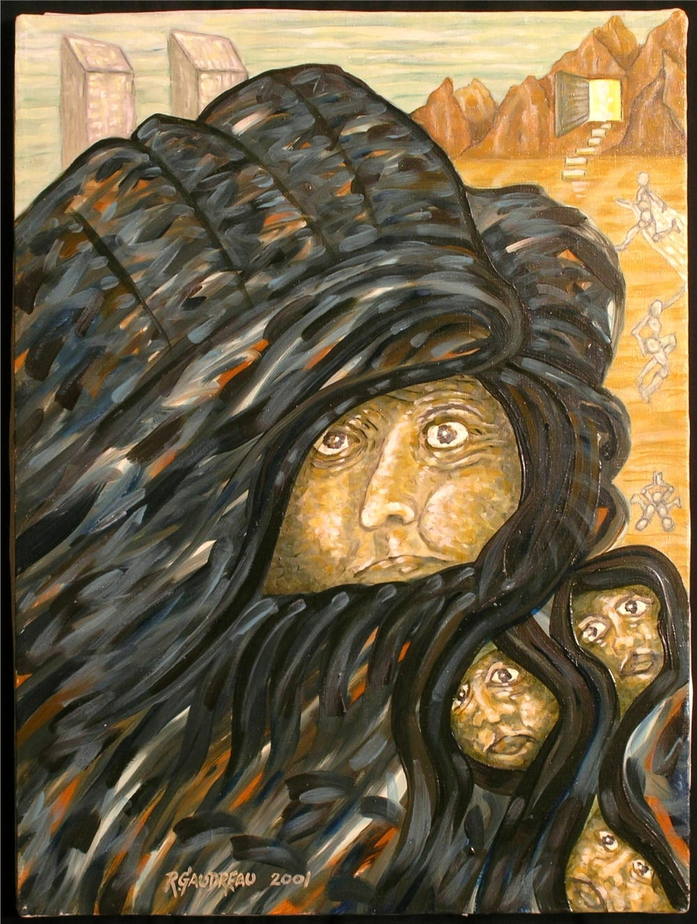 Afghanistan Mother  2001 oil on linen 24 x 18 inches