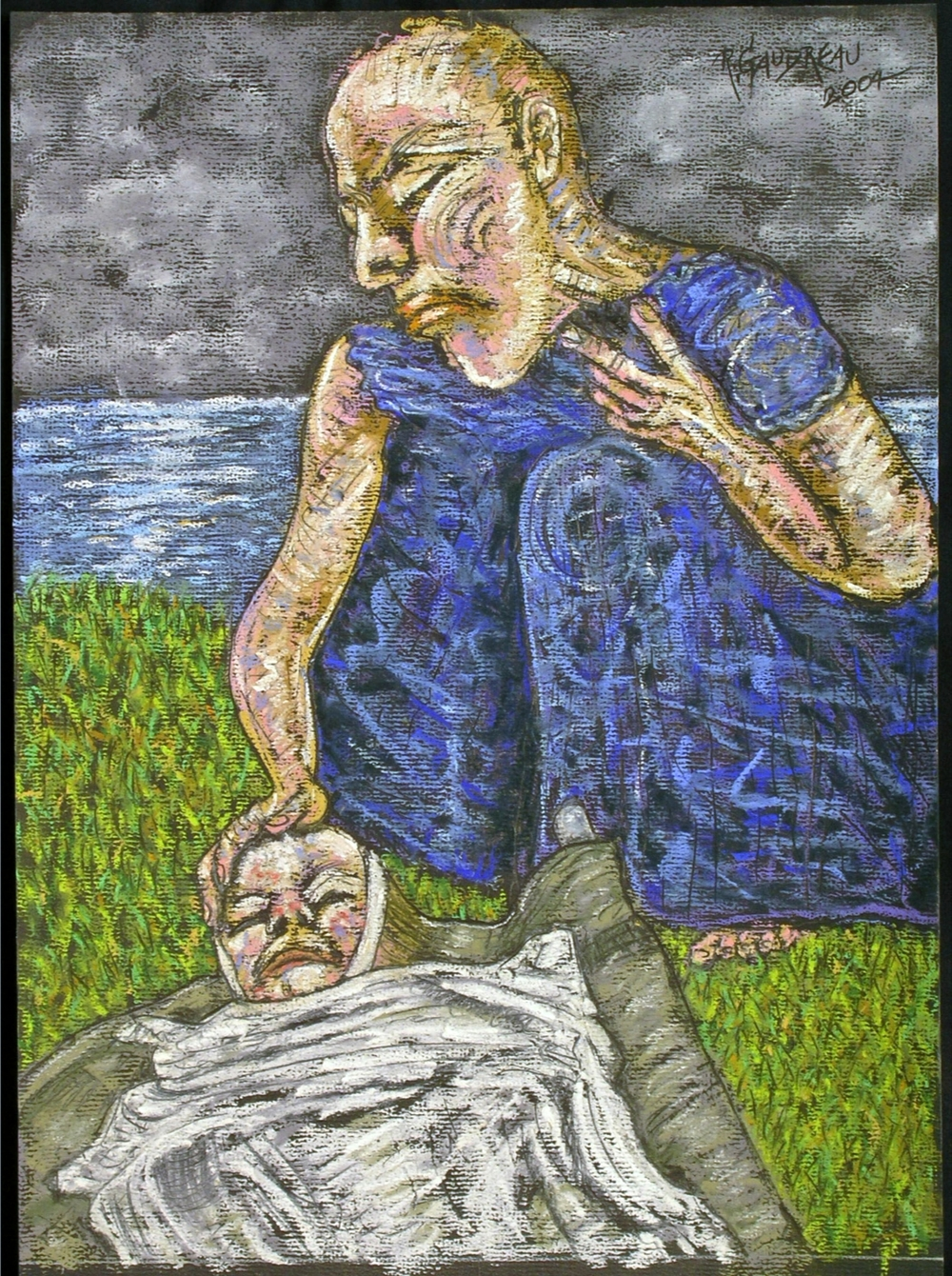 Little Victim  2004 pastel, charcoal on paper 16 x 12 inches