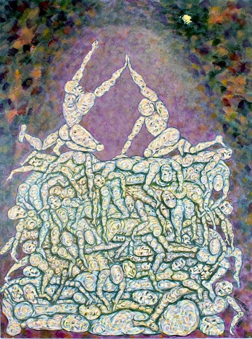 The Pile  2001 oil on canvas 40 x 30 inches