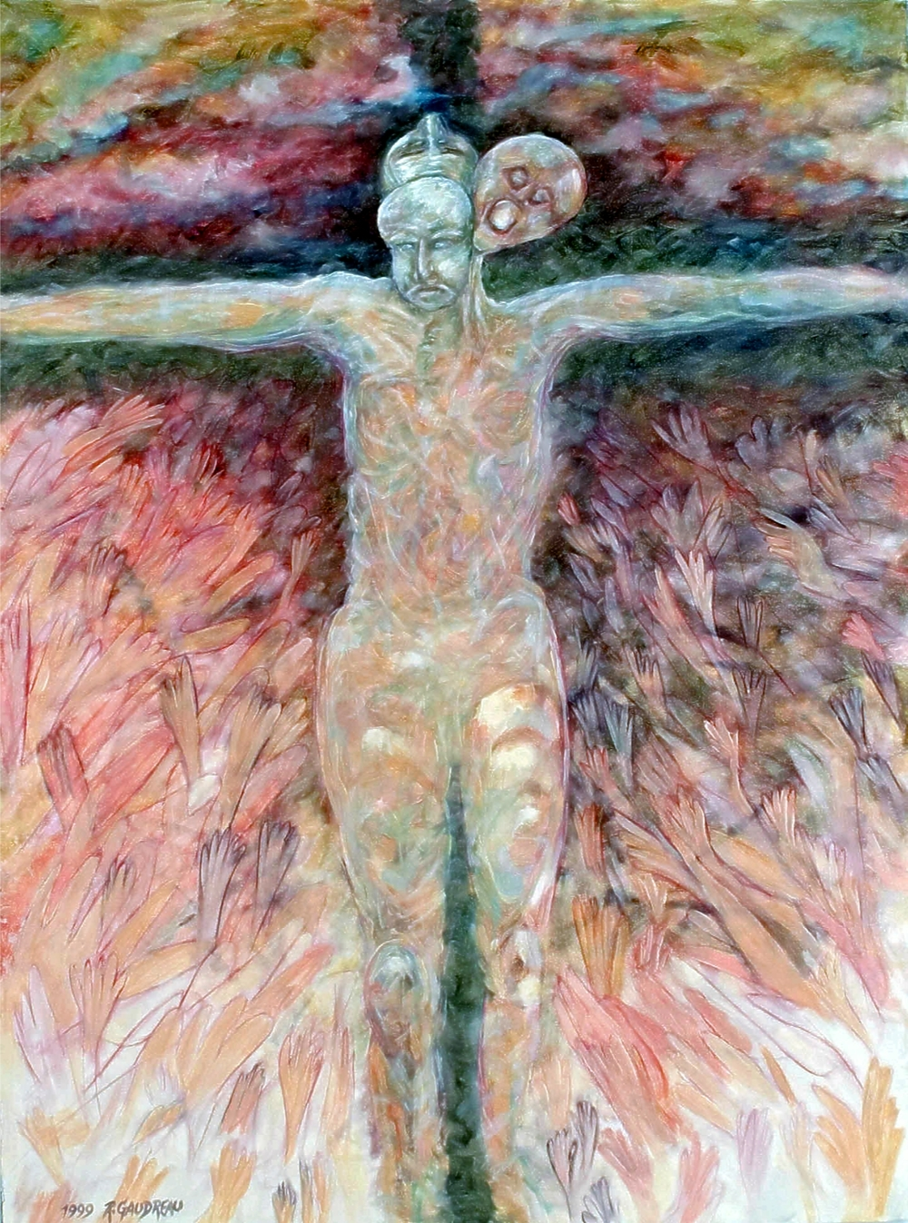 Pain of Christ    1999 oil on canvas 40 x 30 inches