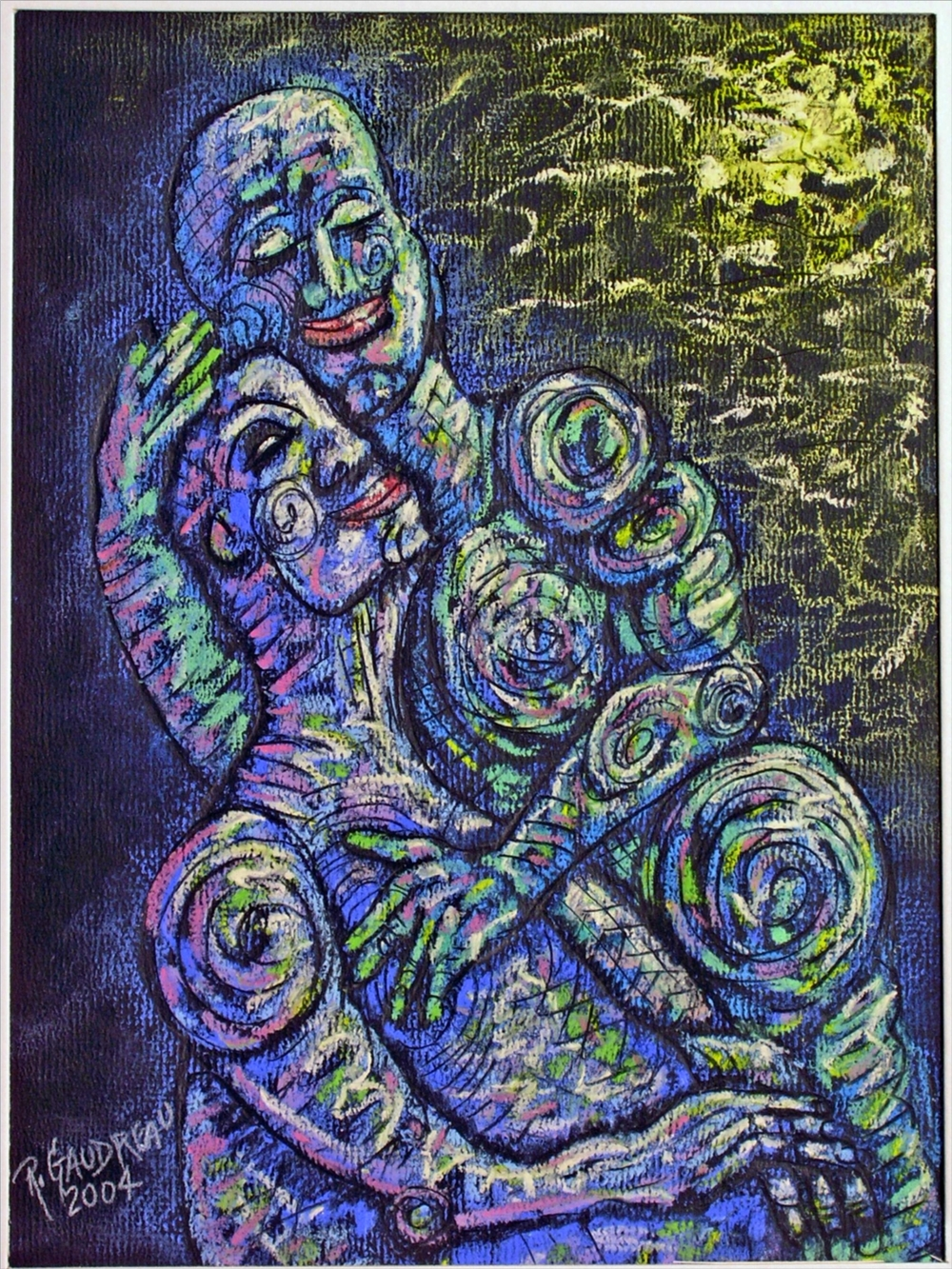 One Moment 2004 pastel, charcoal on paper 12 x 9 inches