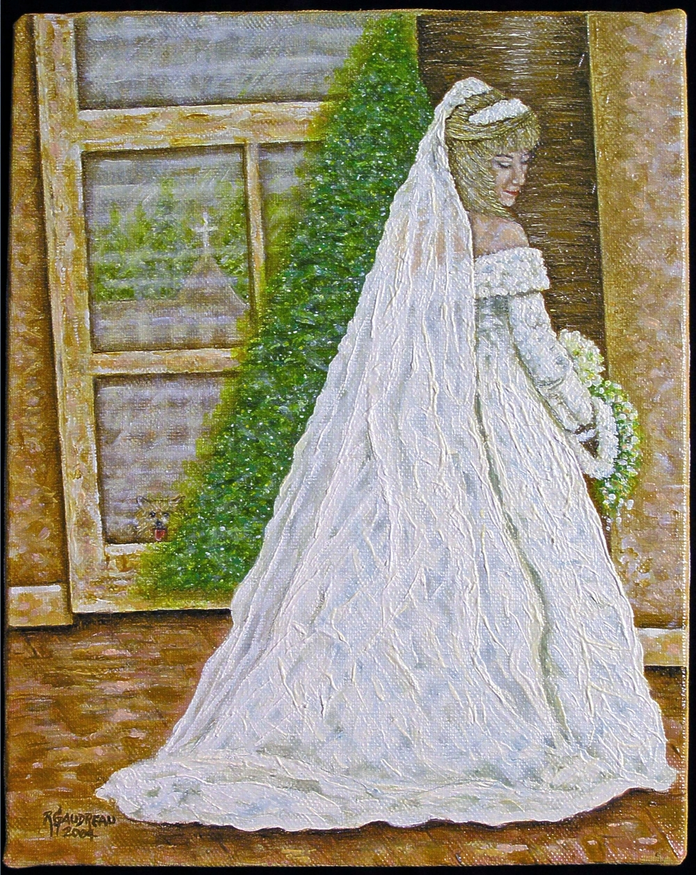 Arlene's Wedding Day    2004 oil on linen 20 x 16 inches