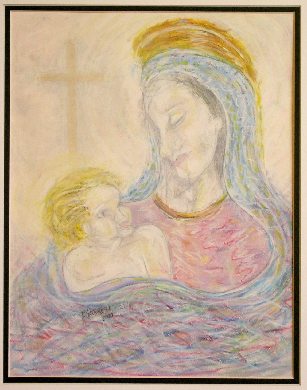 Baby Jesus and his Future 2000 pastel, charcoal on paper 14 x 11 inches