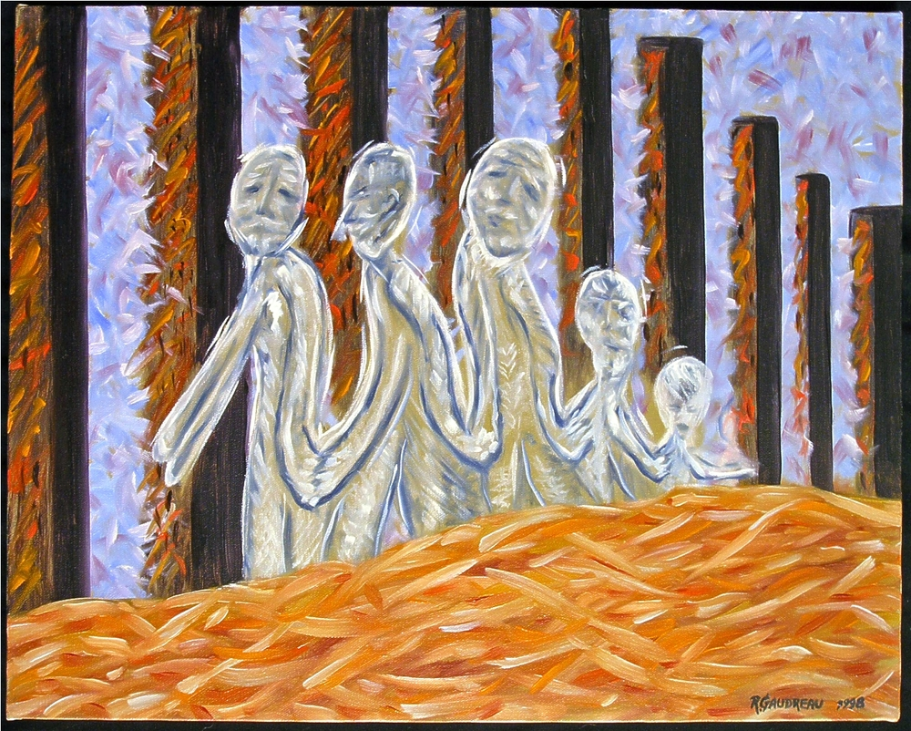 Follow the Leader 1998 oil on canvas 16 x 20 inches