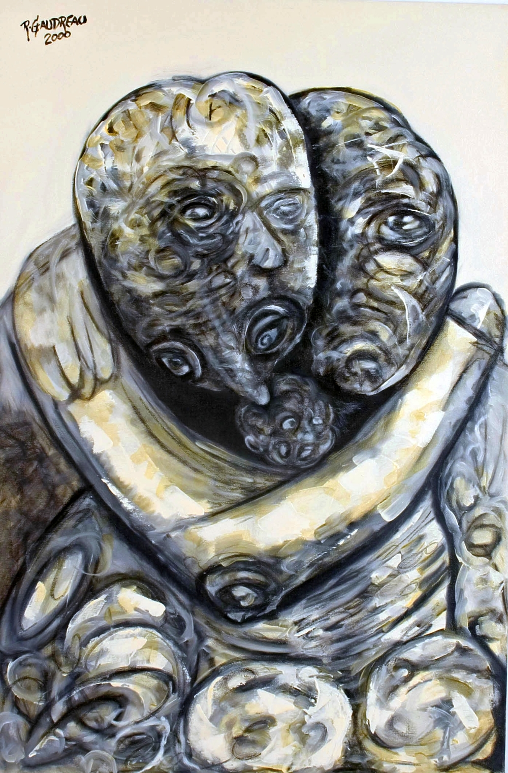 Friend 2000 oil on canvas 36 x 24 inches