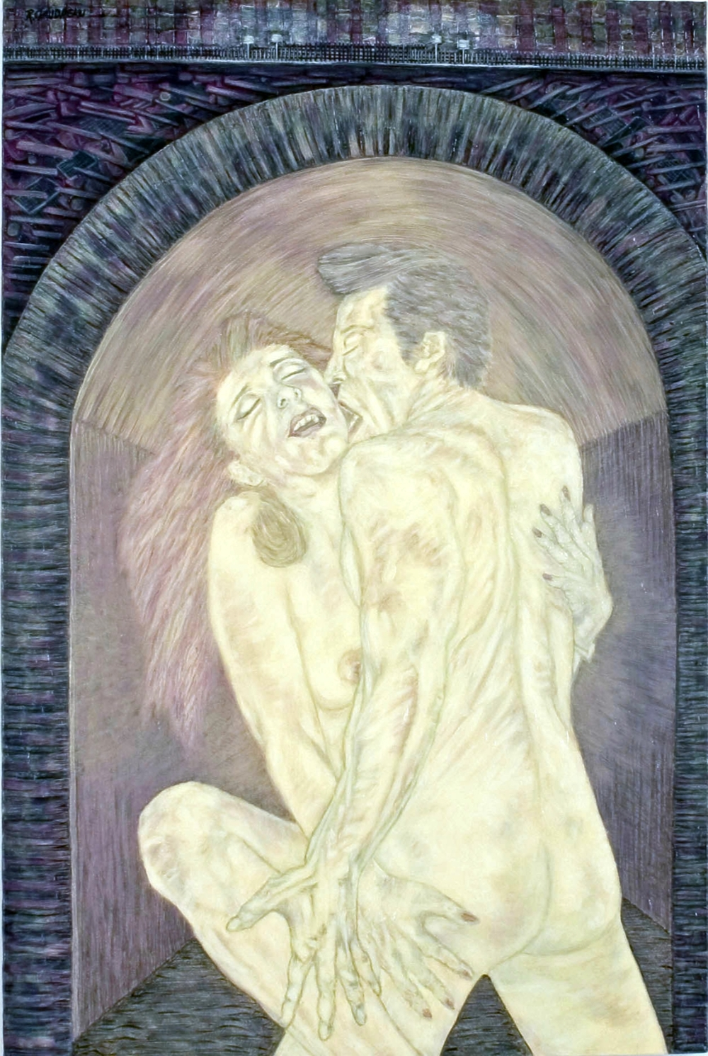 Lovers Ghost 1997 oil on canvas 30 x 20 inches