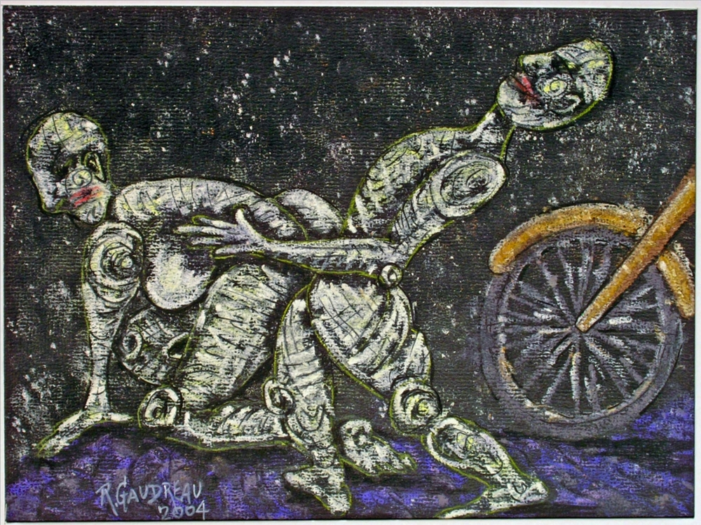 Plowing 2004 pastel, charcoal on paper 9 x 12 inches
