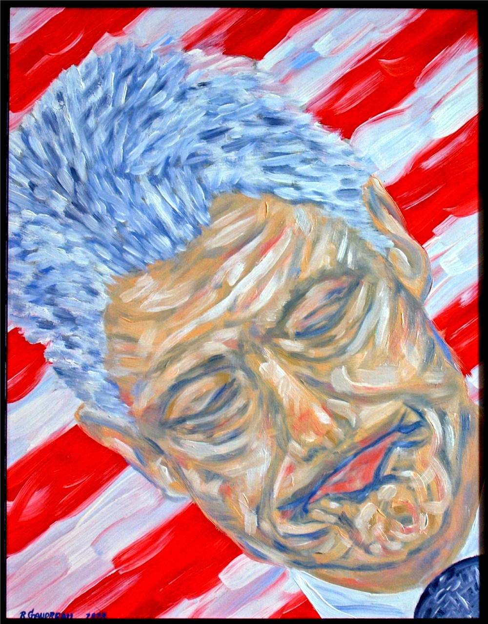 President Clintons Favorite Face 1998 oil on masonite panel 14 x 11 inches