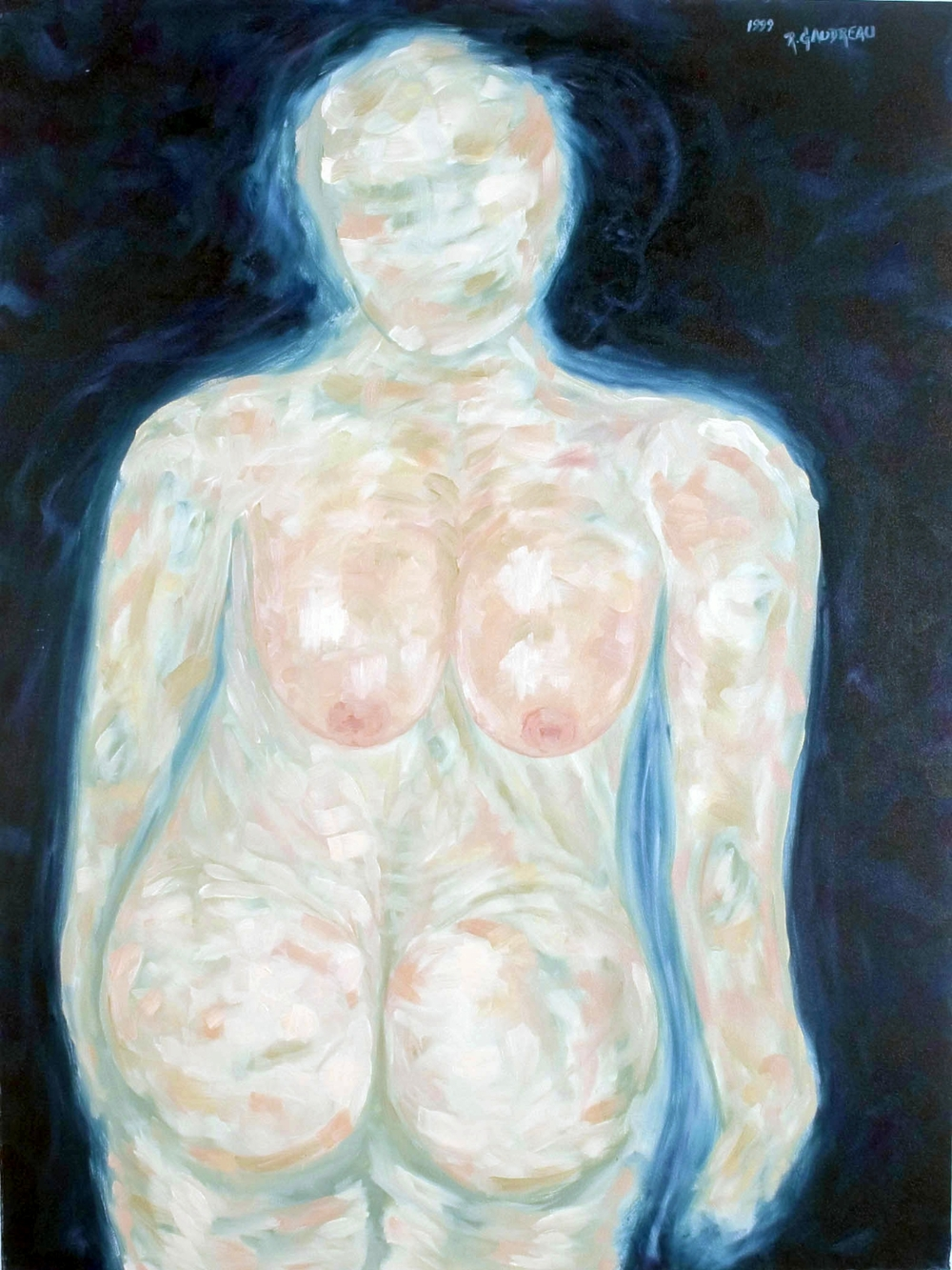 A Mans View of a Woman 1999 oil on canvas 40 x 30 inches