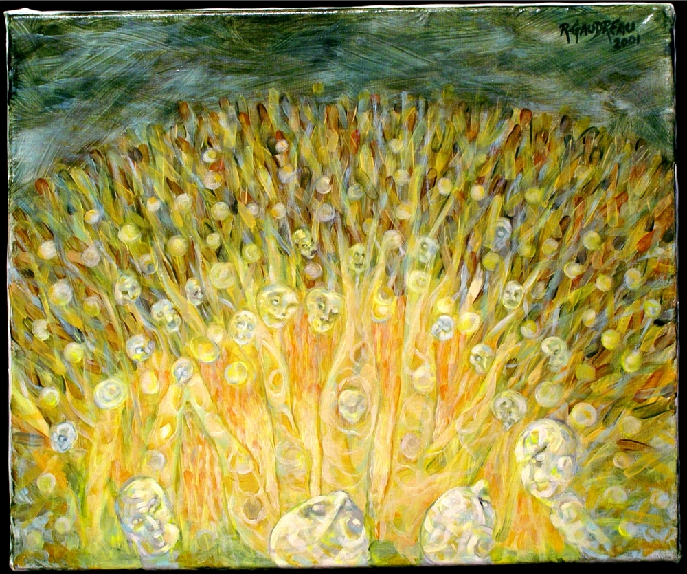 Fire Dance  2001 oil on canvas 20 x 24 inches