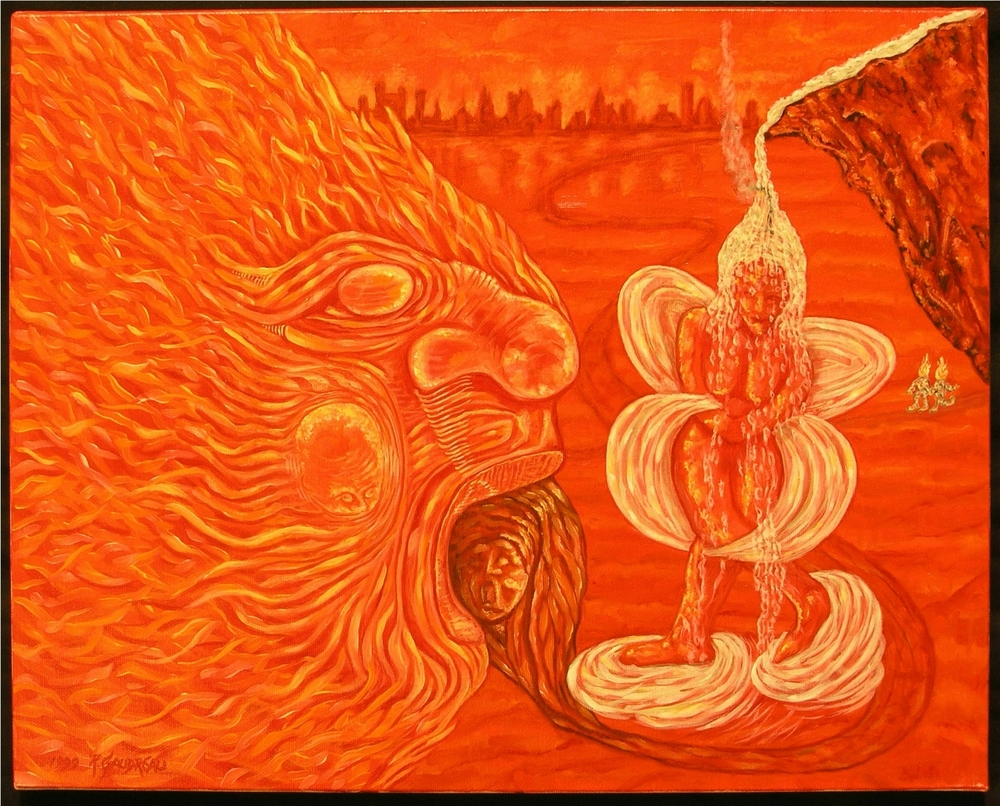 Old Flame  1999 oil on canvas 16 x 20 inches