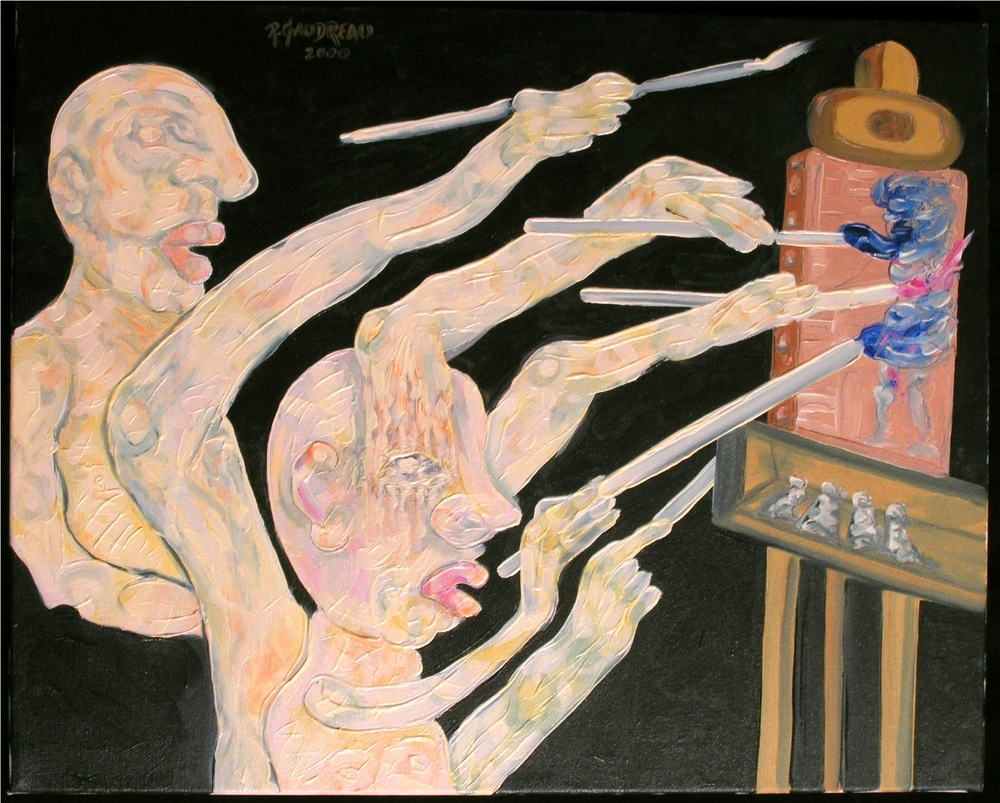 Painting from the Brain 2000 oil on canvas 16 x 20 inches