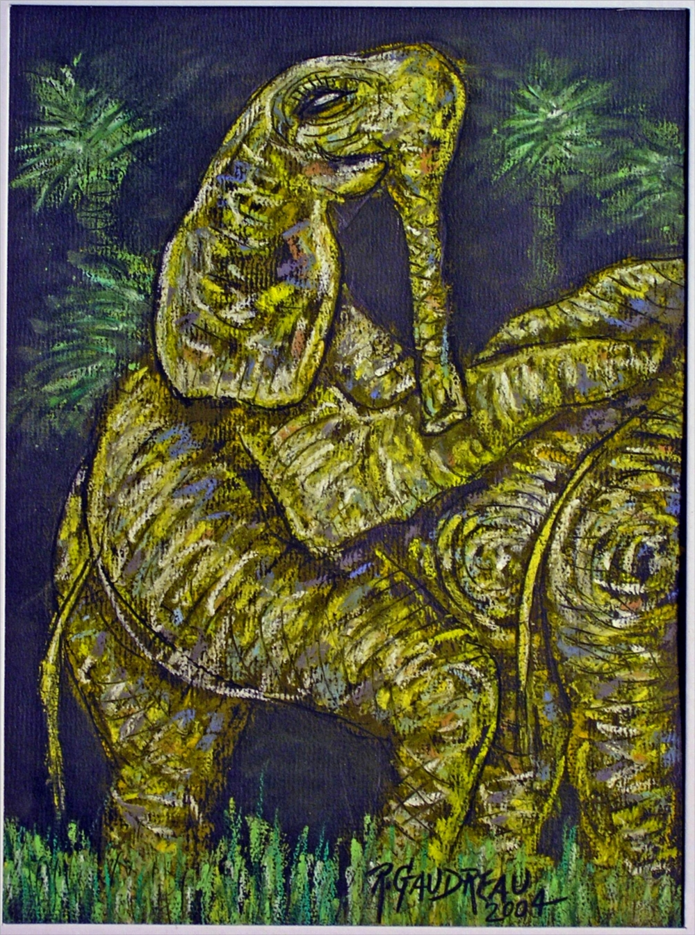 Elephants Pleasure 2004 pastel, charcoal on paper 16 x12 inches