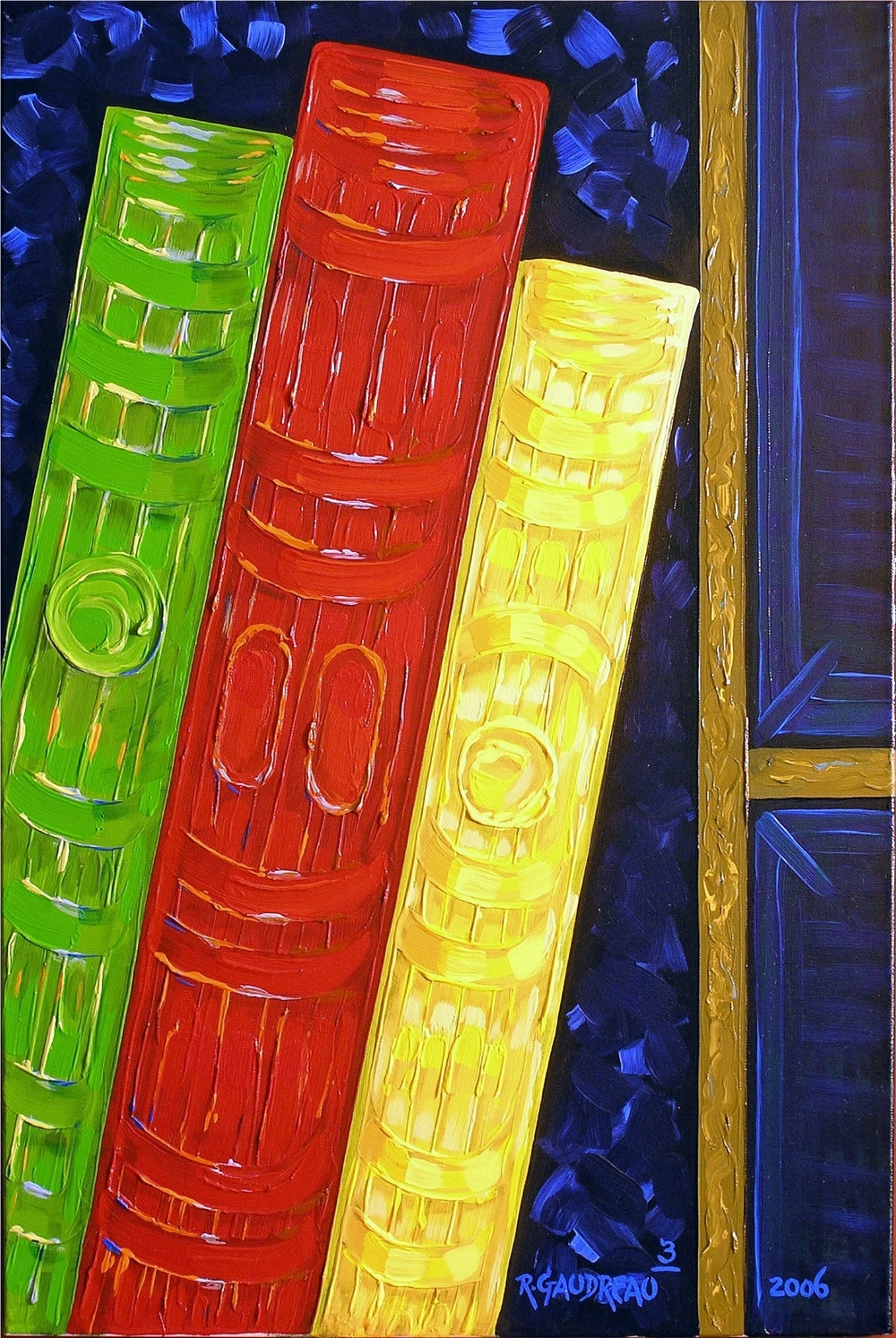 3 Books 2006 oil on canvas 36 x 24 inches