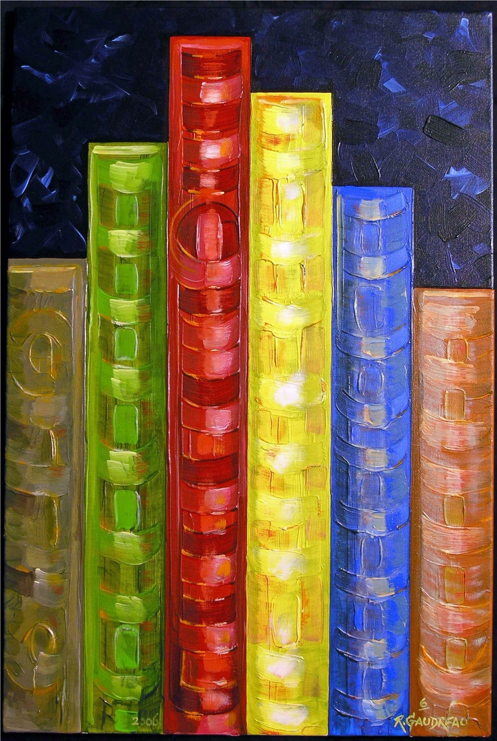 6 Books    2006 oil on canvas 36 x 24 inches