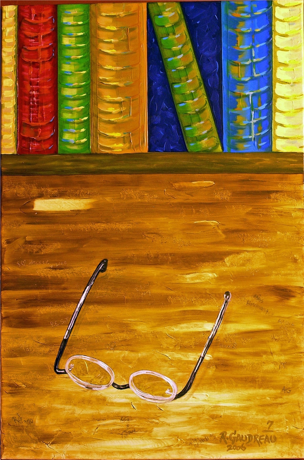 7 Books    2006 oil on canvas 36 x 24 inches