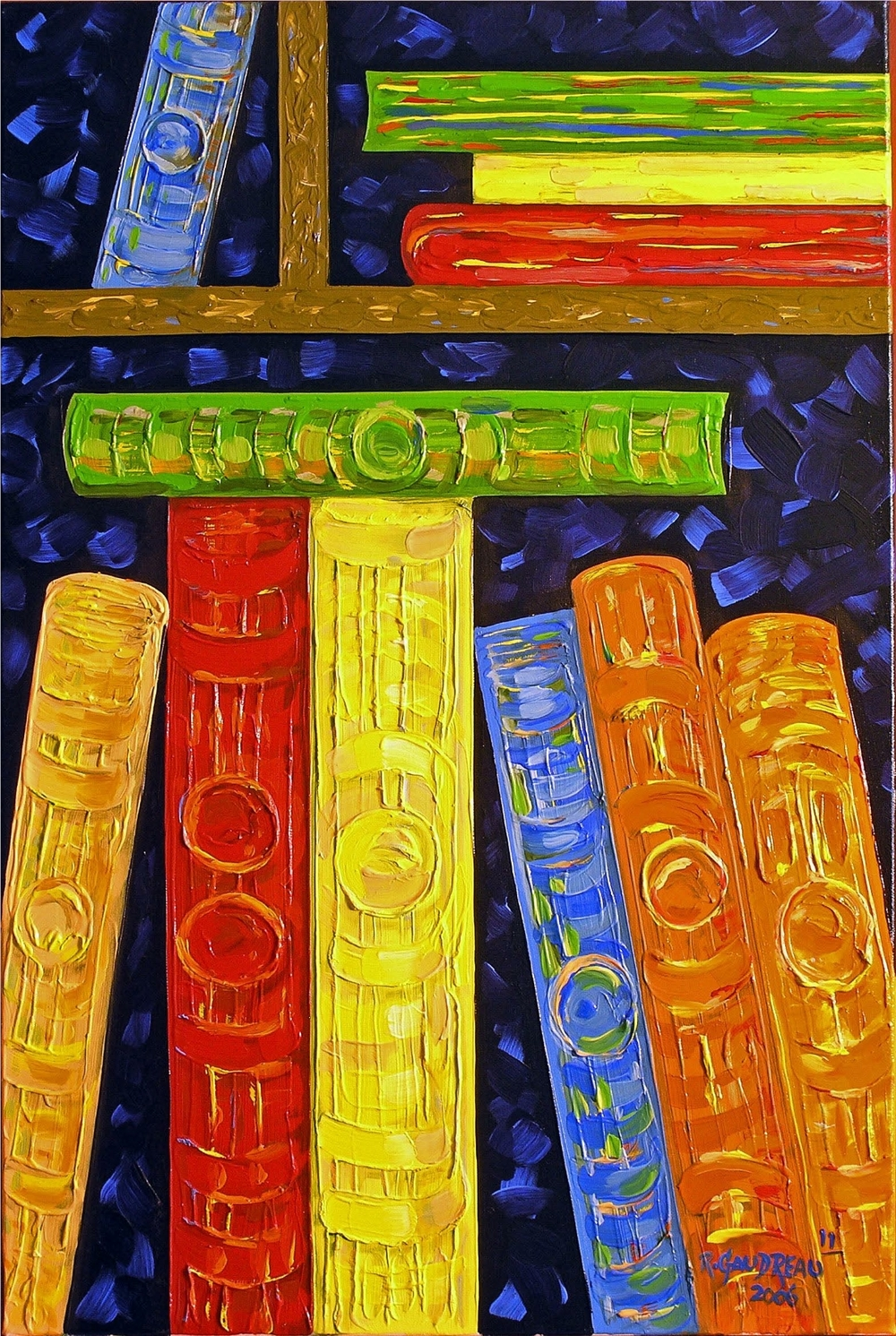 11 Books    2006 oil on canvas 36 x 24 inches