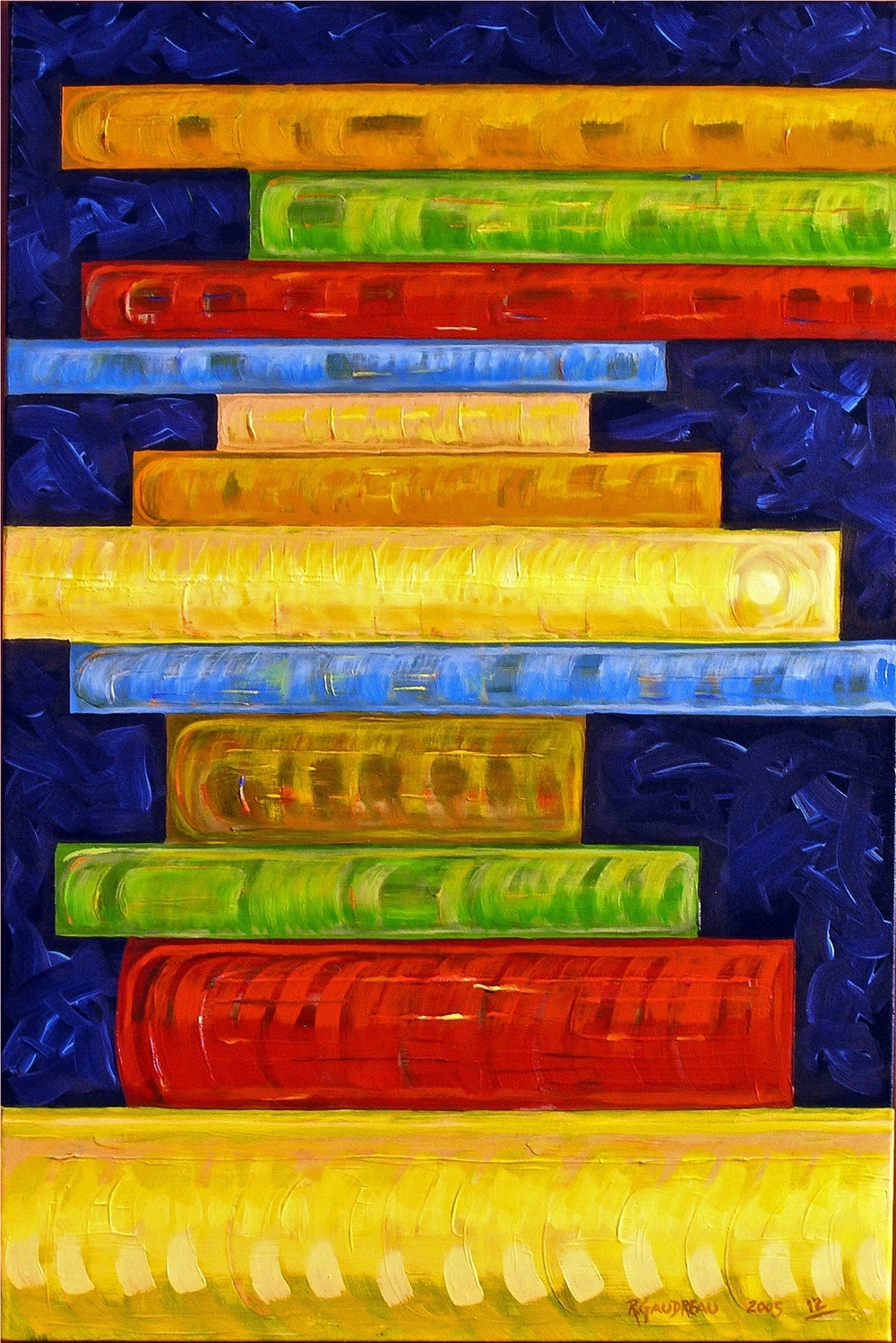 12  Books   2006 oil on canvas 36 x 24 inches