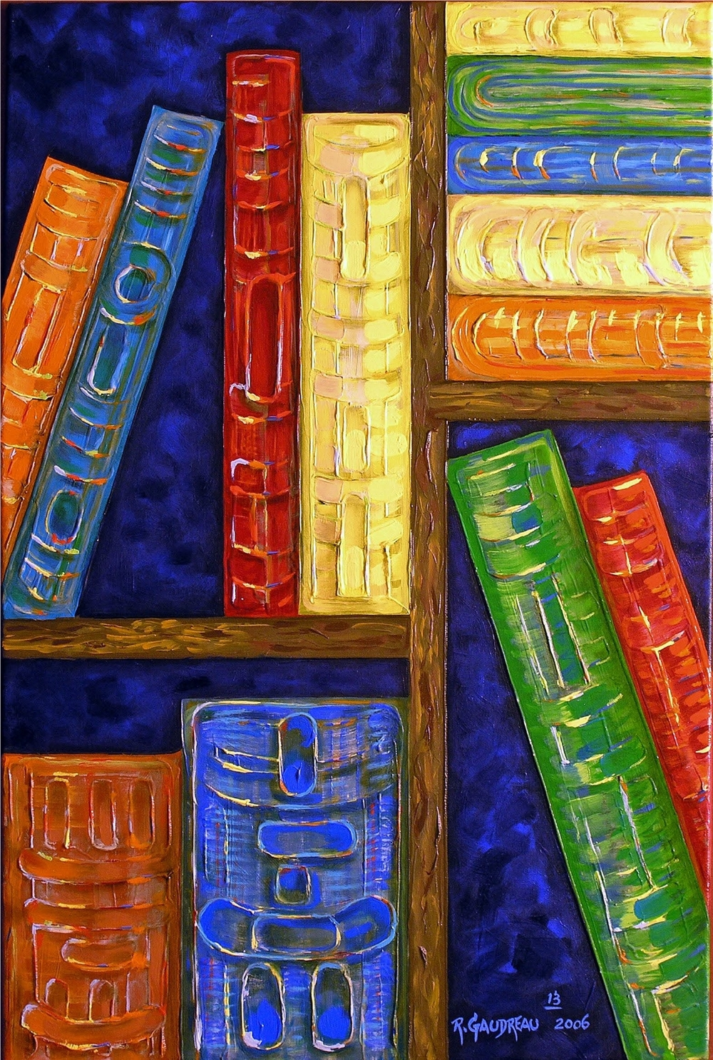 13  Books   2006 oil on canvas 36 x 24 inches