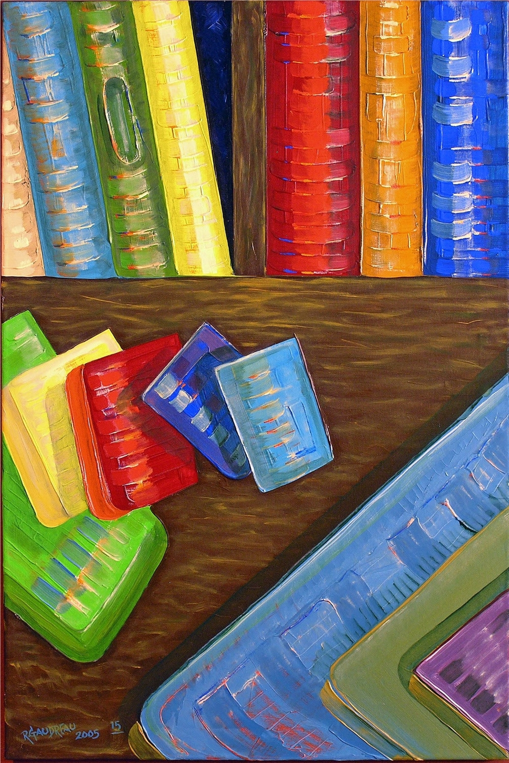 15  Books 2006 oil on canvas 36 x 24 inches