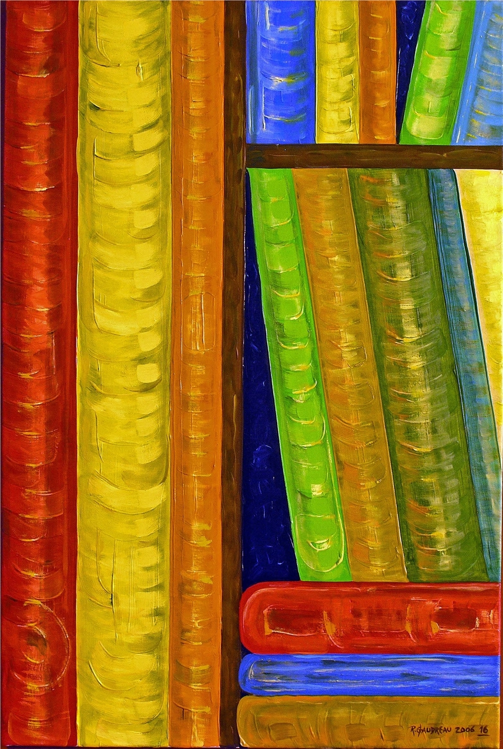 16  Books 2006 oil on canvas 36 x 24 inches