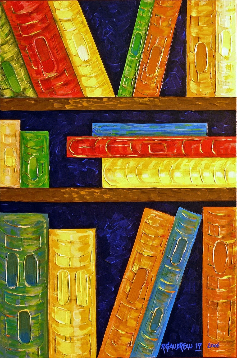 17  Books 2006 oil on canvas 36 x 24 inches