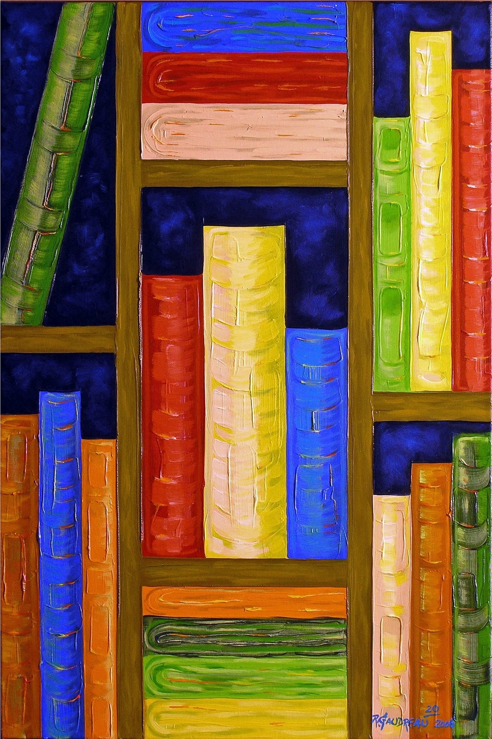 20  Books 2006 oil on canvas 36 x 24 inches