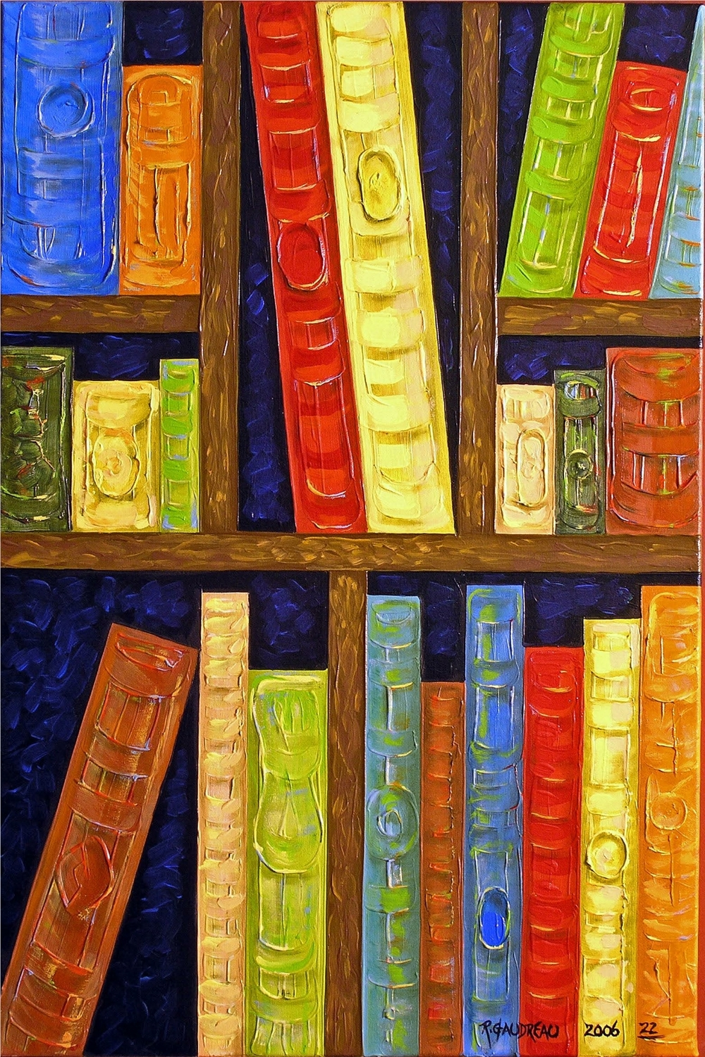 22  Books 2006 oil on canvas 36 x 24 inches
