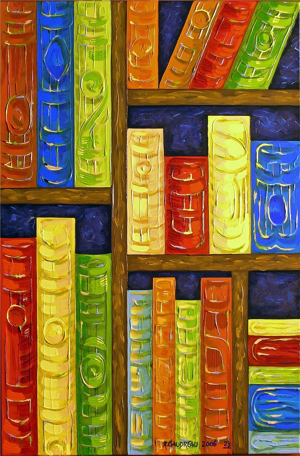 23  Books 2006 oil on canvas 36 x 24 inches