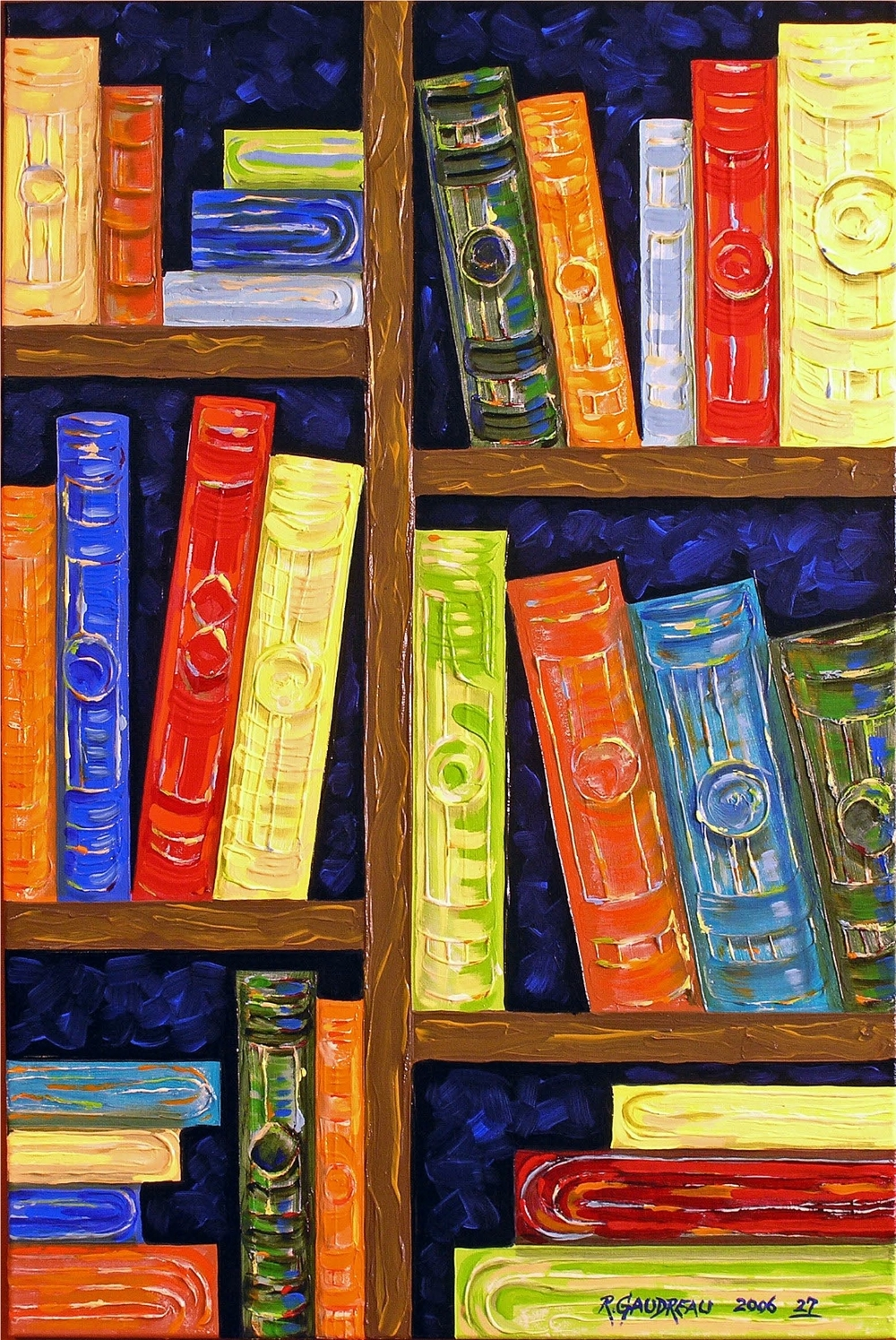 27Books 2006 oil on canvas 36 x 24 inches