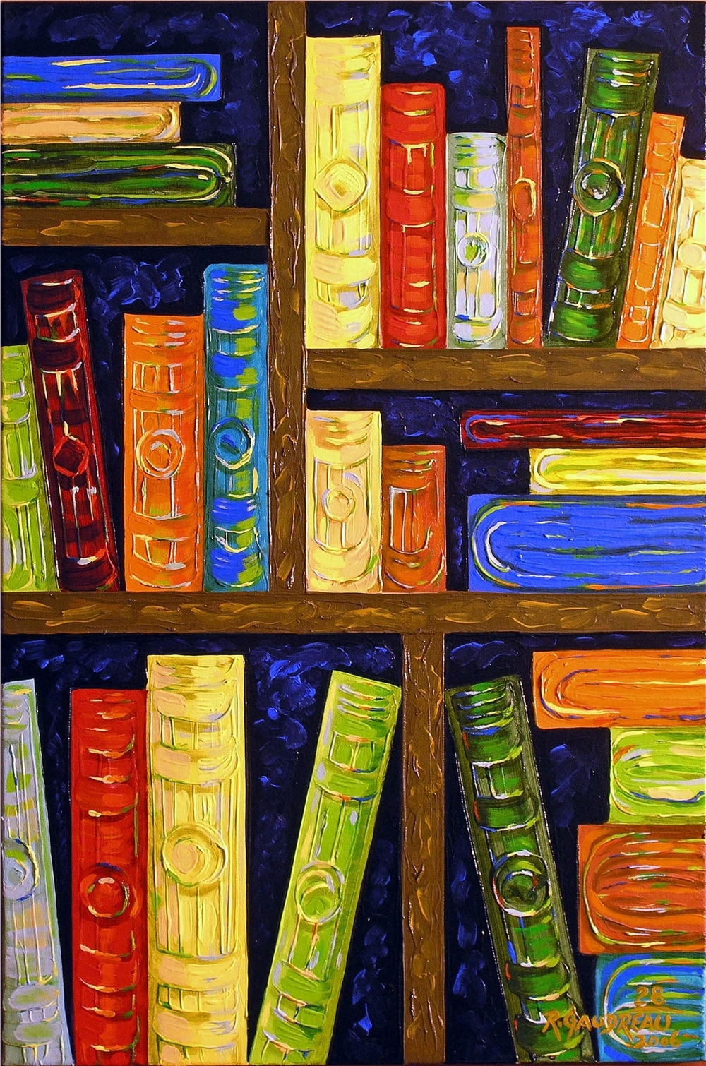 28  Books 2006 oil on canvas 36 x 24 inches