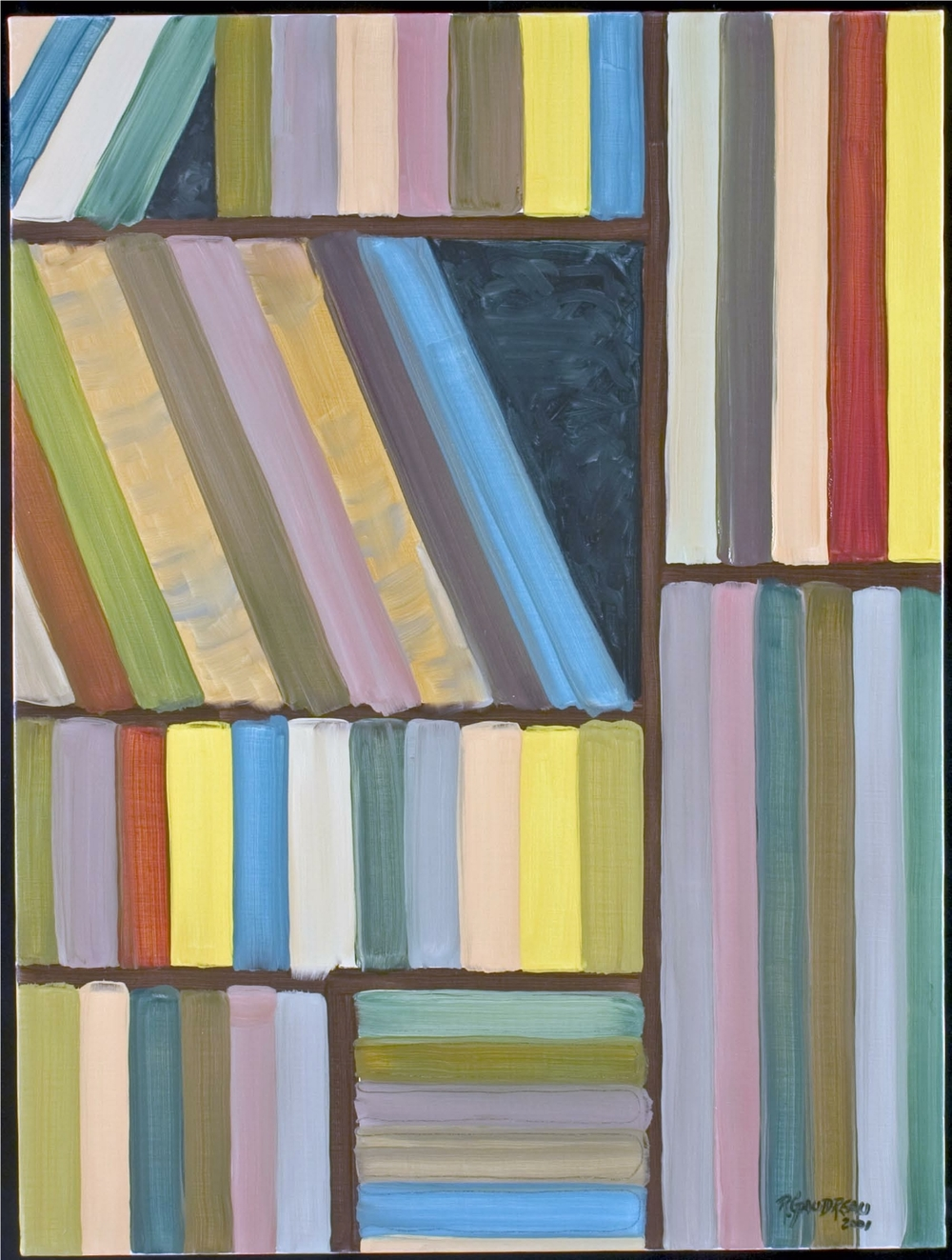 54 Books 2001     (SOLD) oil on canvas 36 x 24 inches