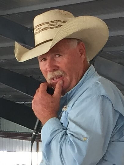 Rick getting ready to serve as the announcer at the Sergio Andrade benefit bull riding event at Denton County Cowboy Church last summer.