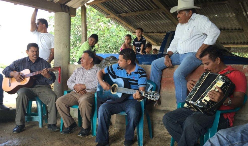 One of the groups meeting in Poncaya, Honduras.
