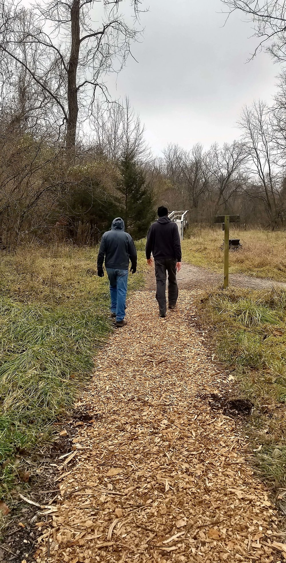 Bill & Steve 12.2017 Walking path to bridge (1).jpg