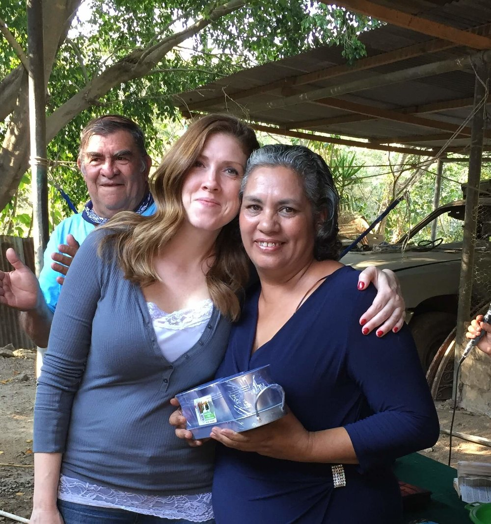 Laura wishing Irma, our hostess in San Jose Acatempa, a Happy Birthday! 1.11.2018.jpg