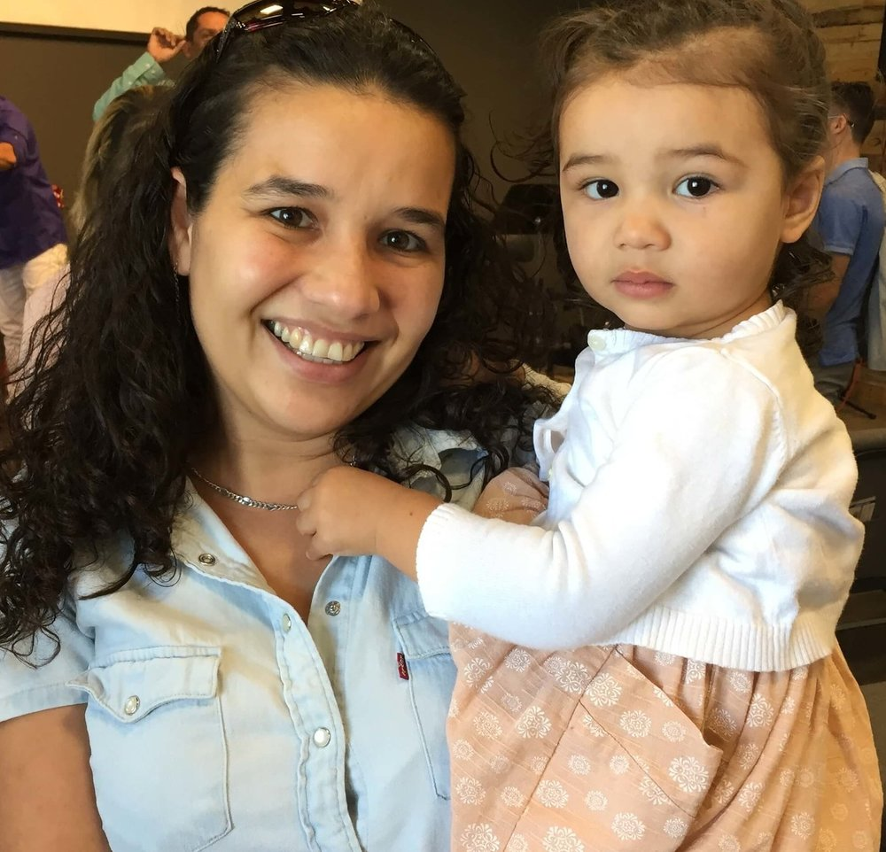 In a fun surprise, I got reacquainted with my airplane friend, Julieta, here with her daughter after the Sunday service in Norfolk.