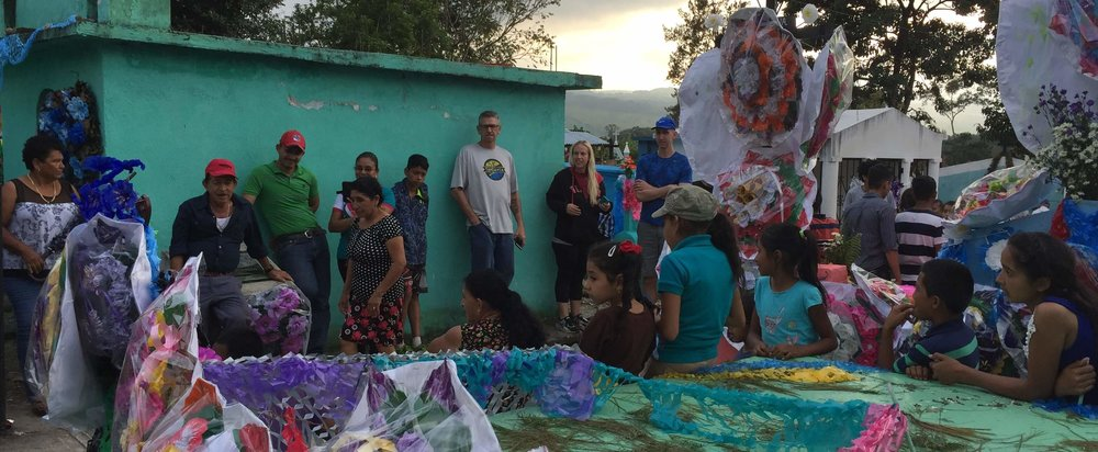 "Our first day in Guatemala, the team paused in a cemetery for the annual ""Day of the Dead"" celebration."