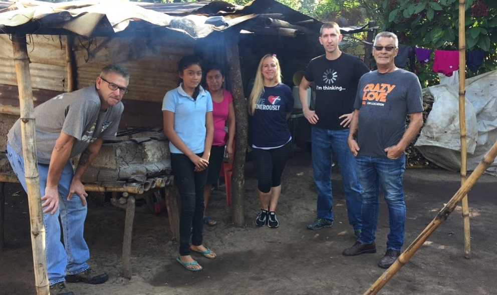 "Jeff, Erica, Ty, and Joe hang'n with some new friends at their home in Las Bolsitas, a village where a new church has been started. It's also the home of ""Tigra"" the dog who bit me nearly two years ago!"