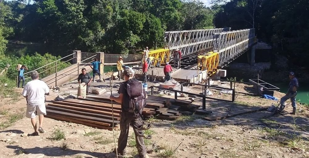 This bridge will allow the construction of a road that will cover much of the ground we hiked on our last day in the jungle.