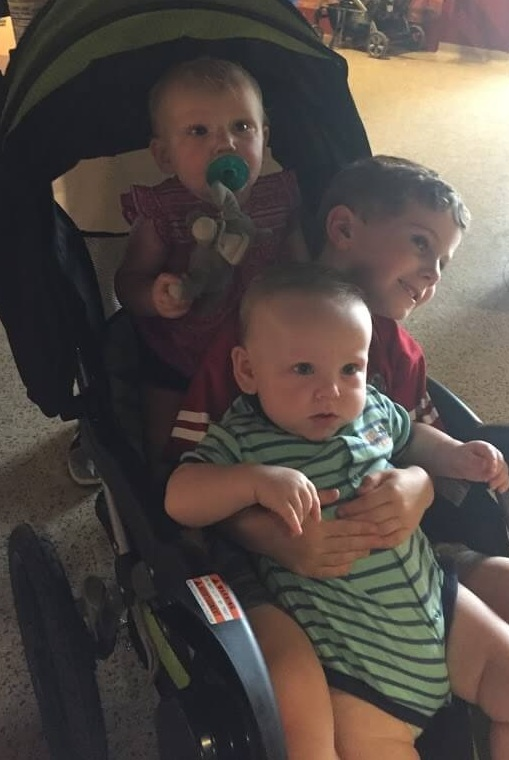 Bridget, Brayden, and Zeke got a buggy ride at the Omaha zoo this past summer!