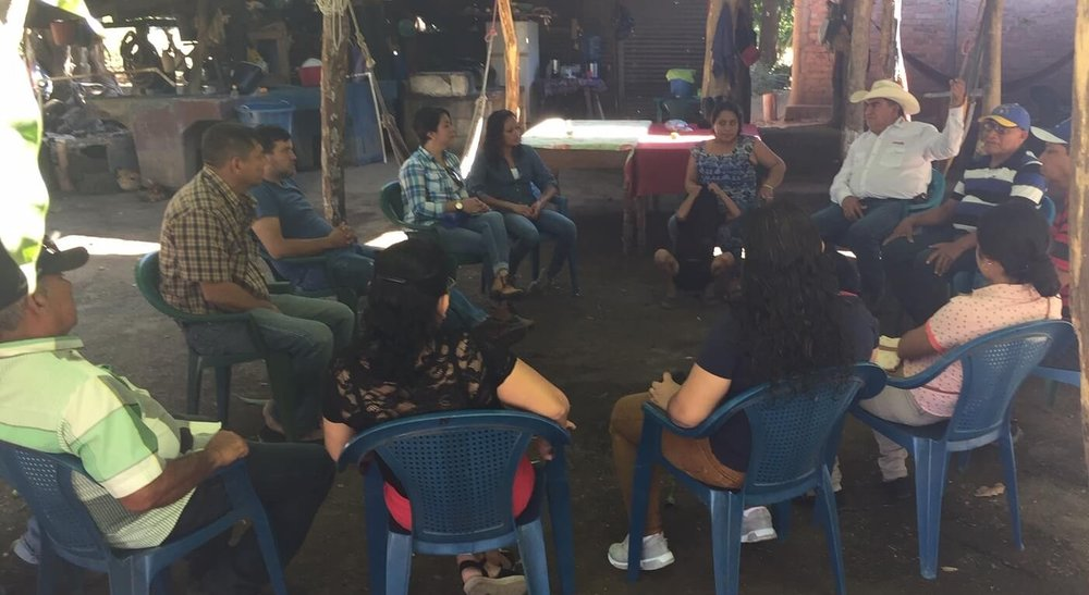 This group near Arenal begins their meeting sharing what they are grateful for.