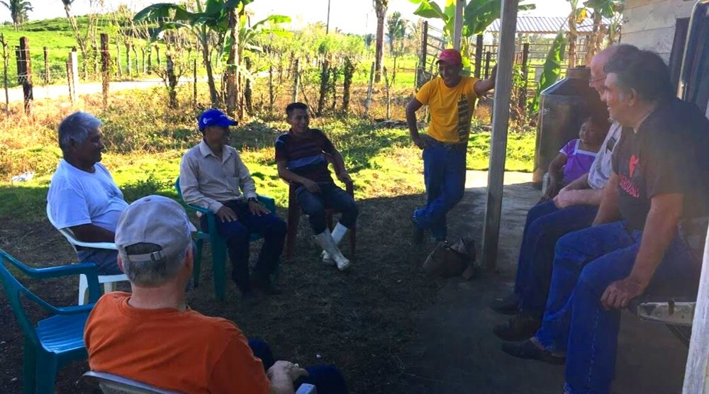 A pastor's gathering in Por Venir, Guatemala, met to pray with us shortly before we left that area for Honduras. Several of these pastors have been involved in soccer evangelism, and Cesar wanted to make sure that they knew to come help us train other Kekchi pastors in May.