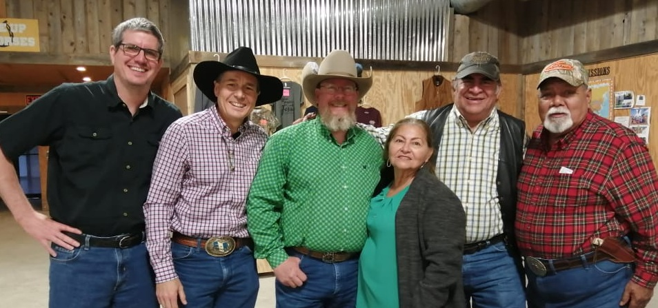 On Sunday, April 7th, we gave a short mission report at Top Hand Cowboy Church in Valley Mills, Texas. From left to right are Bill Burrows, me, Greg Moore (pastor of Top Hand), Elba, Cesar, and Frank Milano.
