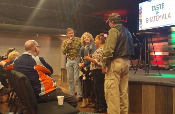 While speaking to folks at LifeQuest Church in Belton, MO, Steve, Nola, Elba, and Cesar shared how team members can share their faith story in cross-cultural settings in Guatemala.