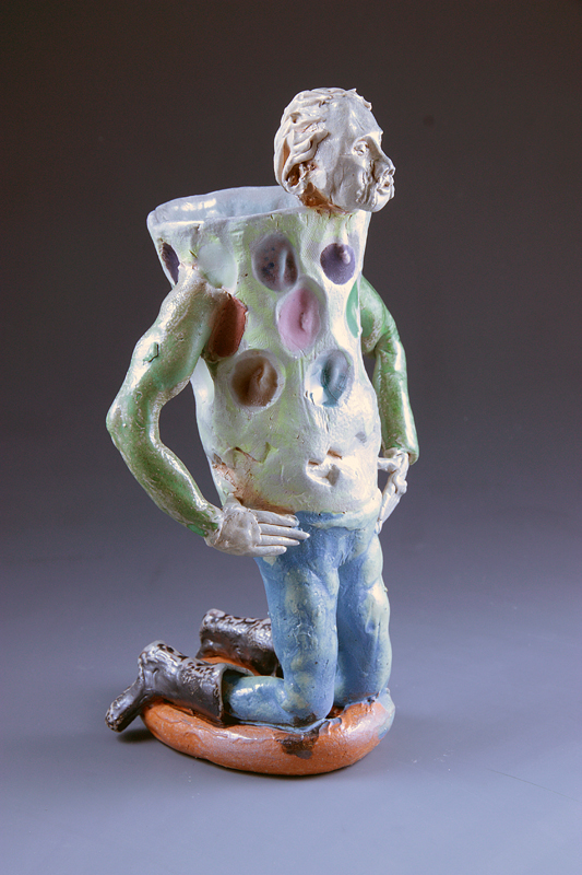 Kneeling Cup Man Orange Ring, 2013