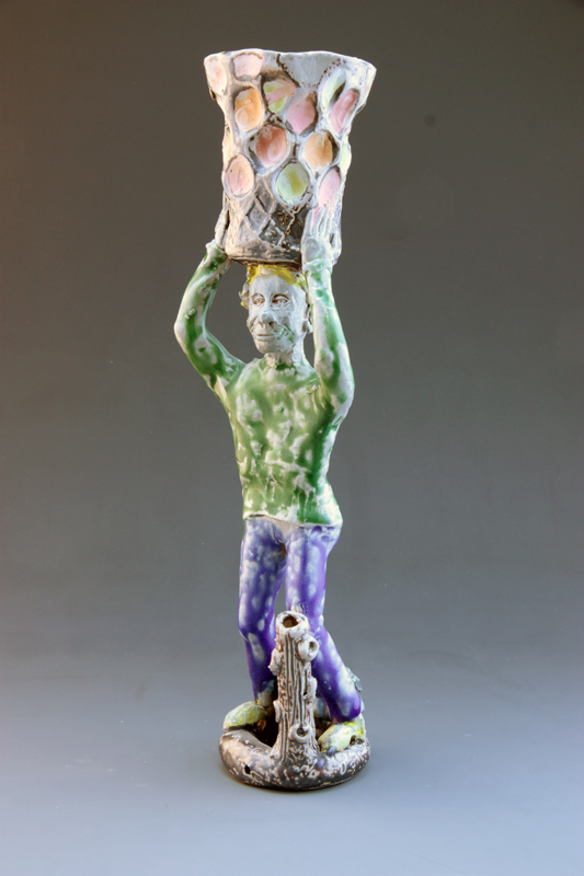 Standing Man Cup on Head, 2013