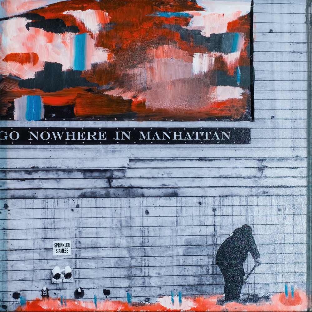 #4 GO NOWHERE  (SOLD)  oil, acrylic and uv ink on fine art photo paper