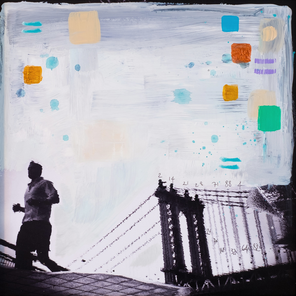 #26 BROOKLYN B  (SOLD)  oil, acrylic and uv ink on fine art photo paper $350